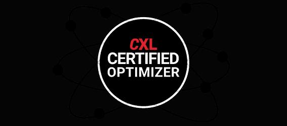 Otimizador de Conversão - Certificado pela CXL Institute